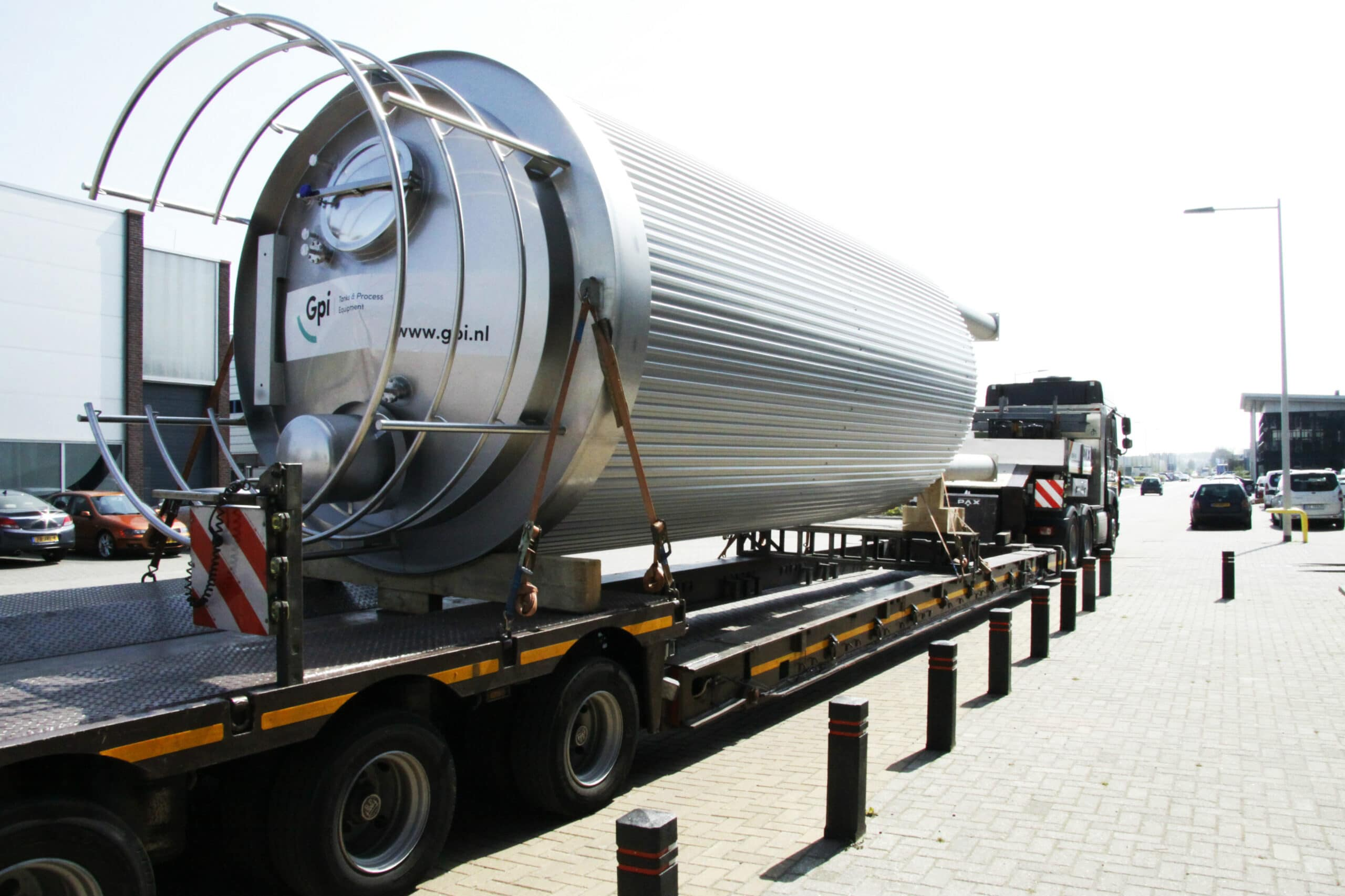 CIP Tank beim Transport
